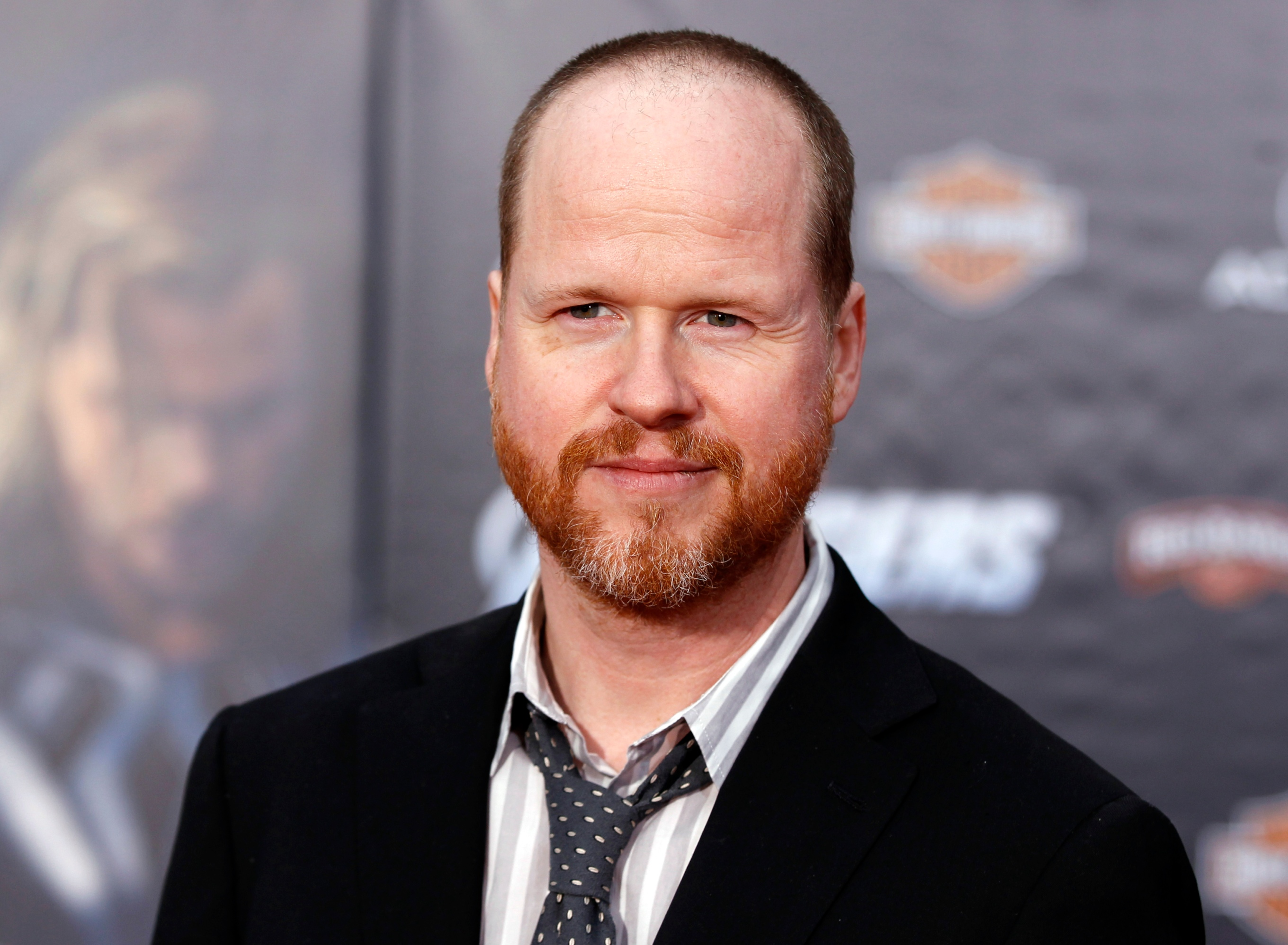 "Director Joss Whedon poses at the world premiere of the film ""Marvel's The Avengers"" in Hollywood, California"