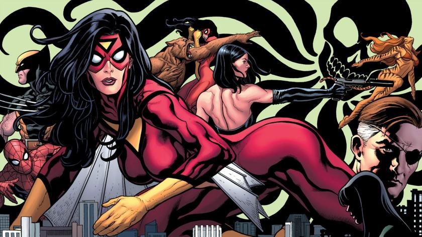 spider-woman-spider-man-wolverine-tigra-nick-fury